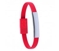 Ceyban USB töltős karkötő, piros
