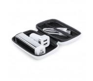 Nacorap USB töltő és power bank szett, fehér