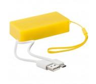 Nibbler USB power bank, sárga