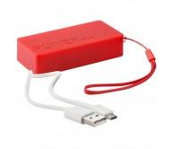 Nibbler USB power bank, piros