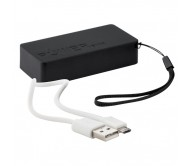 Nibbler USB power bank, fekete