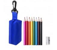 Migal tolltartó mini ceruza készlettel, kék
