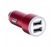 Hesmel USB töltő autóba, piros