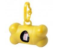 Rucin szemeteszsákadagoló kutyáknak, sárga
