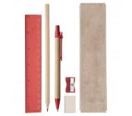 Gabon írószer készlet, piros