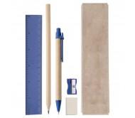 Gabon írószer készlet, kék
