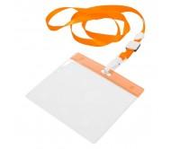 Maes passztartó nyakpánttal, narancssárga