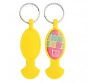Anycart kulcstartós bevásárlókocsi érme, sárga