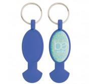 Anycart kulcstartós bevásárlókocsi érme, kék