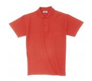 Ultra Cotton piqué póló, felnőtt méretben, piros