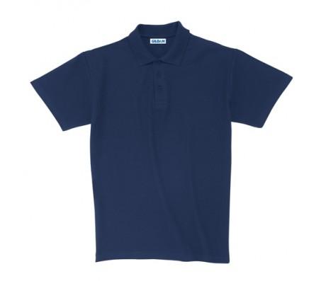 Ultra Cotton piqué póló, felnőtt méretben, kék