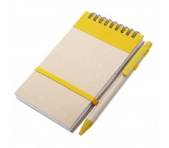 Ecocard jegyzetfüzet, sárga
