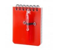 Duxo jegyzetfüzet, piros