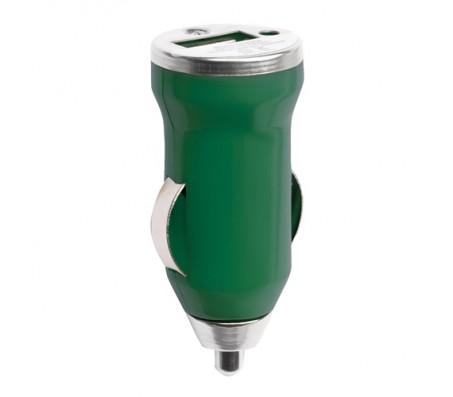 Hikal USB töltő autóba, zöld