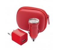 Canox USB töltő szett, piros