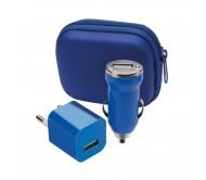 Canox USB töltő szett, kék