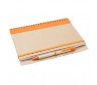 Tunel jegyzetfüzet, narancssárga