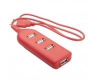 Ohm USB elosztó, piros