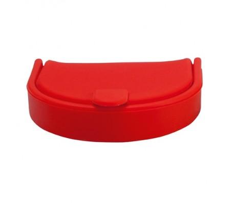 Tagu szilikon aprótartó, piros