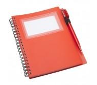 Tagged jegyzetfüzet, piros