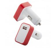 Waze USB-s autós szivargyújtó, piros