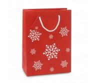 Közepes ajándéktáska, piros